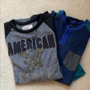 2 American Eagle Outfitters long sleeve Tees.